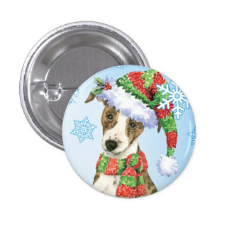 Happy Howliday Whippet Pinback Button