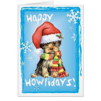 Happy Howliday Yorkie Card