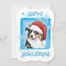 Happy Howlidays Australian Shepherd Holiday Card