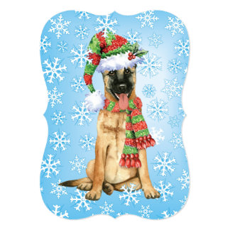 Happy Howlidays Belgian Malinois Card