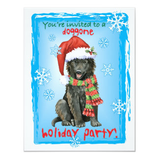 Happy Howlidays Belgian Sheepdog Card