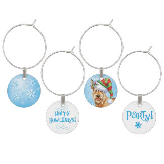 Happy Howlidays Berger Picard Wine Glass Charm