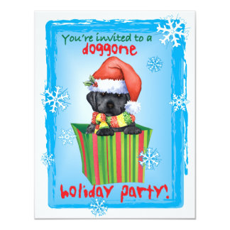 Happy Howlidays Black Lab Card