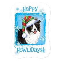Happy Howlidays Border Collie Card
