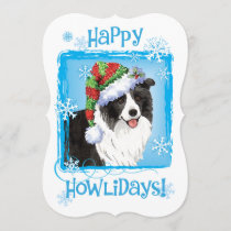 Happy Howlidays Border Collie Holiday Card