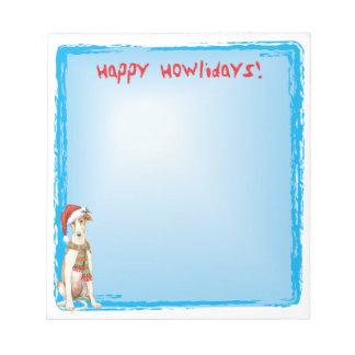 Happy Howlidays Borzoi Notepad
