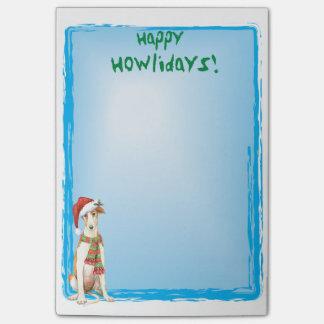 Happy Howlidays Borzoi Post-it® Notes