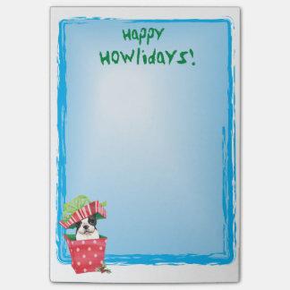 Happy Howlidays Boston Terrier Post-it® Notes
