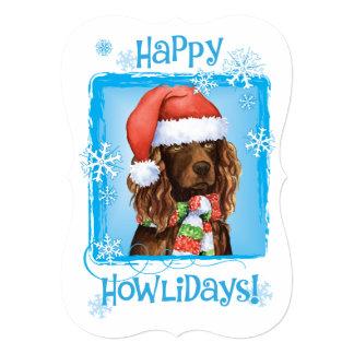 Happy Howlidays Boykin Spaniel 5x7 Paper Invitation Card