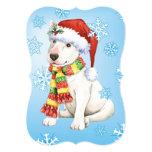 Happy Howlidays Bull Terrier 5x7 Paper Invitation Card