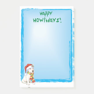 Happy Howlidays Bull Terrier Post-it Notes