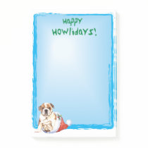 Happy Howlidays Bulldog Post-it Notes