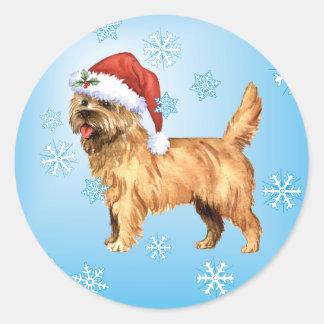 Happy Howlidays Cairn Terrier Classic Round Sticker