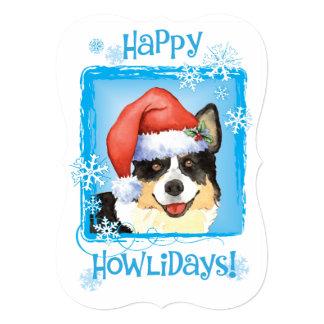 Happy Howlidays Cardigan Welsh Corgi Card