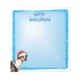 Happy Howlidays Catahoula Notepad