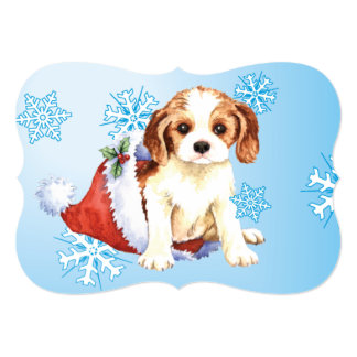 Happy Howlidays Cavalier Personalized Announcement Card