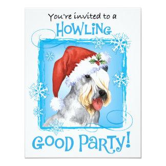 Happy Howlidays Cesky Terrier 4.25x5.5 Paper Invitation Card