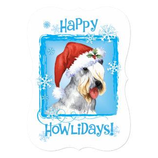 Happy Howlidays Cesky Terrier 5x7 Paper Invitation Card