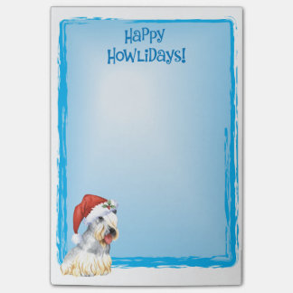 Happy Howlidays Cesky Terrier Post-it® Notes