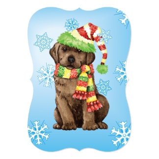 Happy Howlidays Chocolate Lab Card