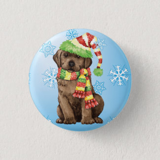 Happy Howlidays Chocolate Lab Pinback Button
