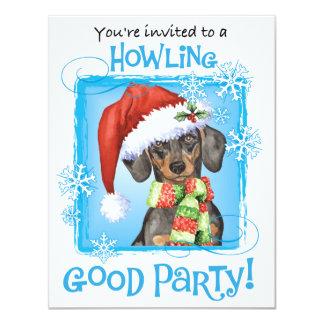 Happy Howlidays Dachshund Card
