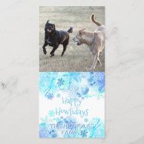 Happy Howlidays | Dog Christmas Photo Snowflakes Holiday Card