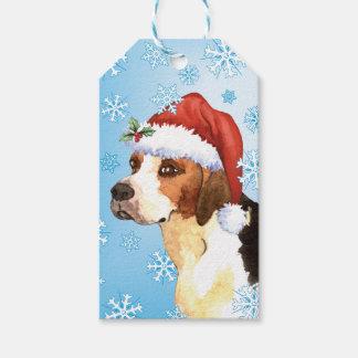 Happy Howlidays English Foxhound Gift Tags