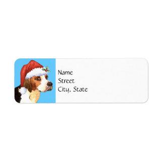 Happy Howlidays English Foxhound Return Address Label