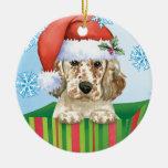 Happy Howlidays English Setter Ceramic Ornament