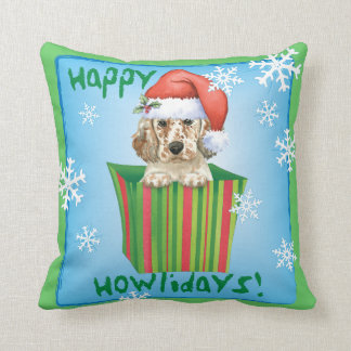 Happy Howlidays English Setter Pillow