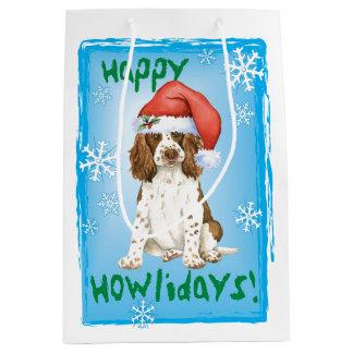 Happy Howlidays English Springer Spaniel Medium Gift Bag