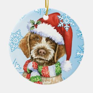 Happy Howlidays Griffon Ceramic Ornament