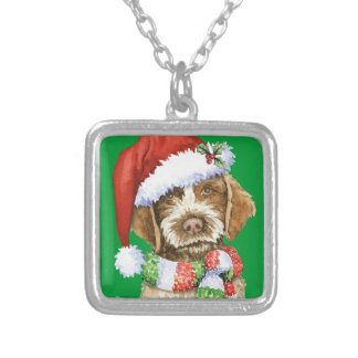Happy Howlidays Griffon Silver Plated Necklace