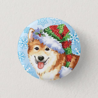 Happy Howlidays Icelandic Sheepdog Button