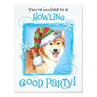 Happy Howlidays Icelandic Sheepdog Card