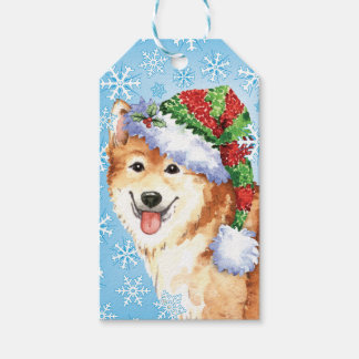 Happy Howlidays Icelandic Sheepdog Gift Tags