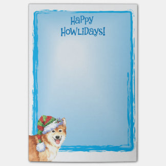 Happy Howlidays Icelandic Sheepdog Post-it® Notes
