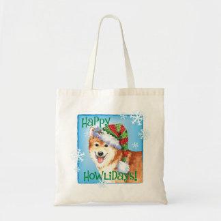 Happy Howlidays Icelandic Sheepdog Tote Bag