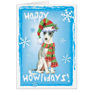 Happy Howlidays Italian Greyhound Card