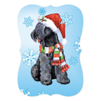 Happy Howlidays Kerry Blue Terrier 5x7 Paper Invitation Card