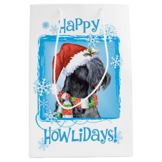 Happy Howlidays Kerry Blue Terrier Medium Gift Bag