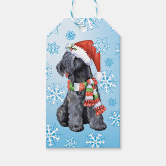 Happy Howlidays Kerry Blue Terrier Pack Of Gift Tags