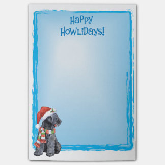 Happy Howlidays Kerry Blue Terrier Post-it® Notes