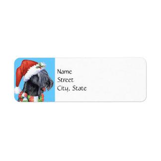Happy Howlidays Kerry Blue Terrier Return Address Label