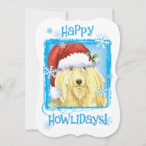 Happy Howlidays Komondor Holiday Card
