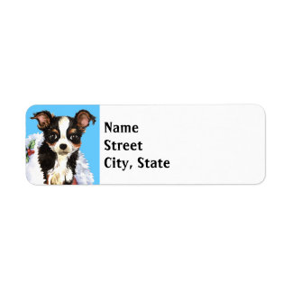 Happy Howlidays Long Coat Chihuahua Return Address Label