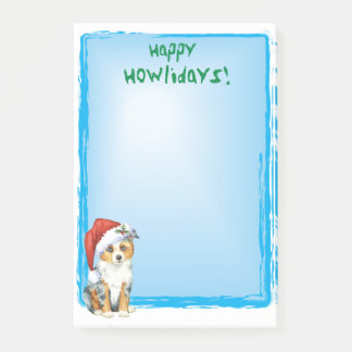 Happy Howlidays Mini American Shepherd Post-it Notes