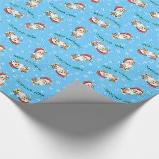 Happy Howlidays Mini American Shepherd Wrapping Paper