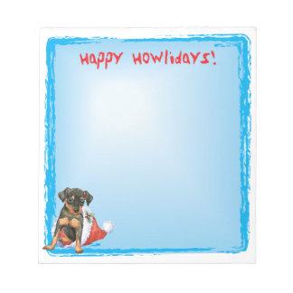 Happy Howlidays Miniature Pinscher Note Pad